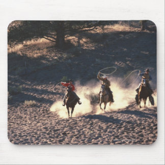 Cowboys riding mouse pad