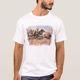 Cowboys roping a steer, 1897 (oil on canvas) T-Shirt