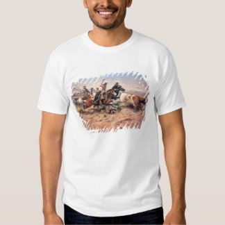 Cowboys roping a steer, 1897 (oil on canvas) t shirts