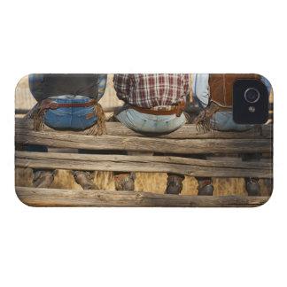Cowboys sitting on fence iPhone 4 case