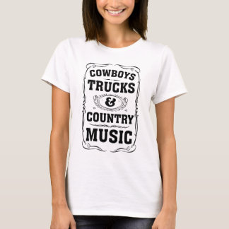 Cowboys Trucks And Country Music T-Shirt