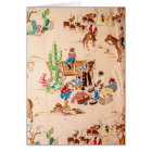 Cowboys - Vintage Wallpaper - Wild West Card