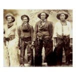 Cowboys  Wild West Vintage Poster Posters
