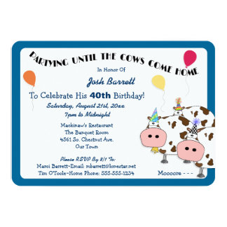 Cowdacious Rounded Cut Birthday Party Card