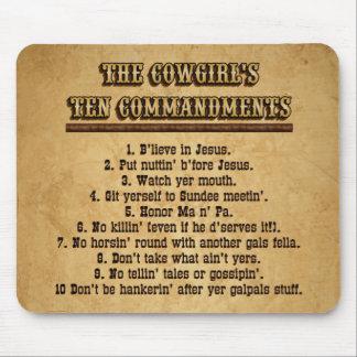 Cowgirl 10 Commandments MOUSEPAD