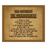 Cowgirl 10 Commandments Poster