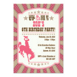 Cowgirl 6th Birthday Party Girl Invitation