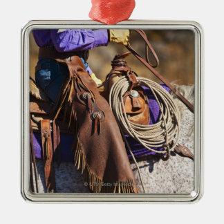 Cowgirl 7 Silver-Colored square decoration