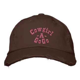 Cowgirl, -A-, GoGo Embroidered Hat