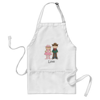 Cowgirl and Cowboy in Love Standard Apron