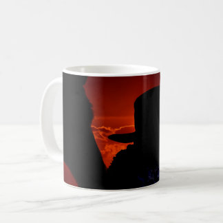 Cowgirl and Horse Silhouette Coffee Mug