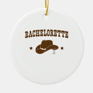 Cowgirl Bachelorette Christmas Ornament