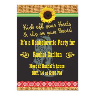 Cowgirl Bachelorette Party Invitation