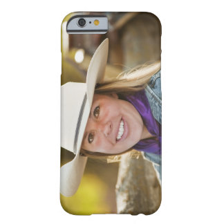 Cowgirl beside fence barely there iPhone 6 case