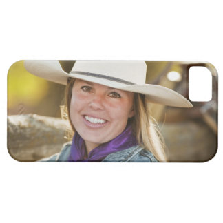 Cowgirl beside fence case for the iPhone 5