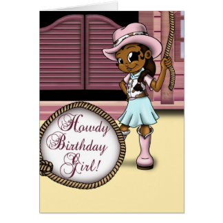 """Cowgirl Birthday Cards"" Greeting Card"