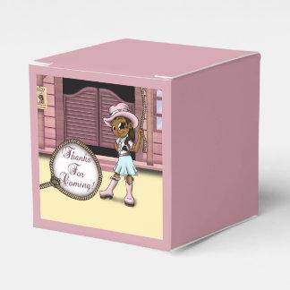 """Cowgirl Birthday Favor Box Classic 2x2"" Favour Box"