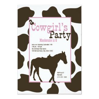 Cowgirl Birthday Party 13 Cm X 18 Cm Invitation Card