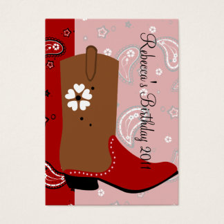 Cowgirl Boot Business Card