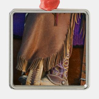 Cowgirl boots Silver-Colored square decoration