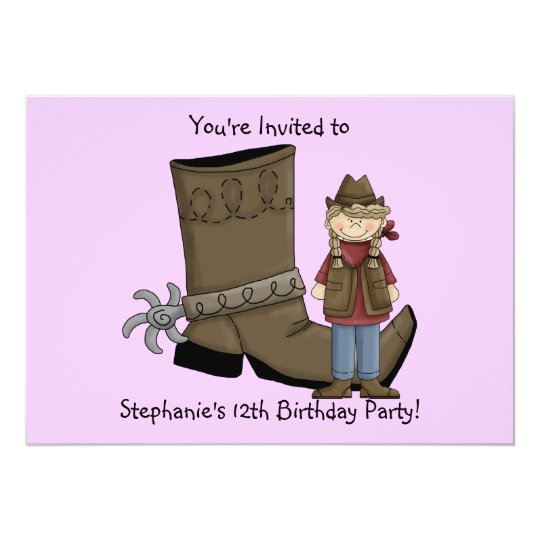 Cowgirl Boots & Spurs - Birthday Girl Celebration