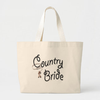 Cowgirl Bride Gifts and Favors Jumbo Tote Bag