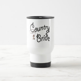 Cowgirl Bride Gifts and Favors Travel Mug