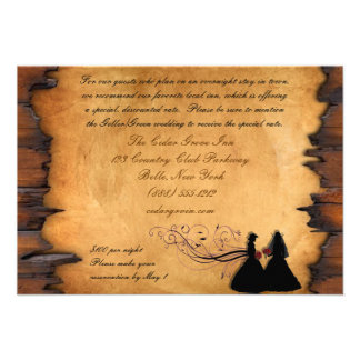 Cowgirl Brides Custom Accommodations Cards