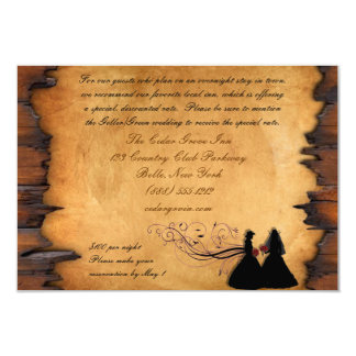 Cowgirl Brides Custom Accommodations Cards Custom Announcement