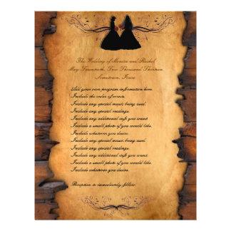 Cowgirl Brides Custom Lesbian Wedding Programs 21.5 Cm X 28 Cm Flyer