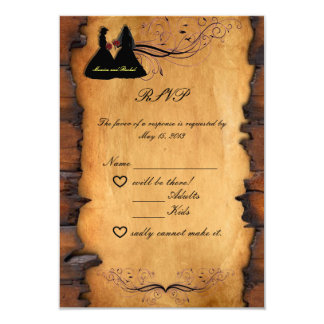 Cowgirl Brides Custom Lesbian Wedding RSVP Cards 9 Cm X 13 Cm Invitation Card