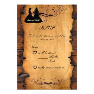 Cowgirl Brides Custom Lesbian Wedding RSVP Cards