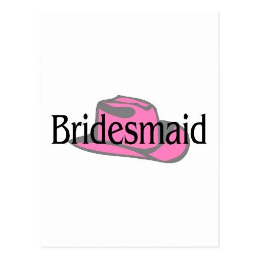 Cowgirl Bridesmaid Postcard