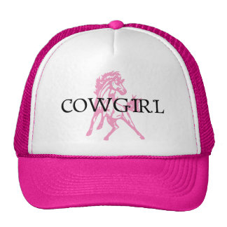 Cowgirl Bronc Horse pink horse version Hats