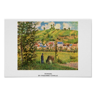 Cowgirl By Pissarro Camille Print