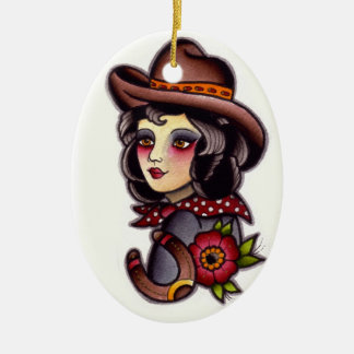 Cowgirl Christmas Ornament