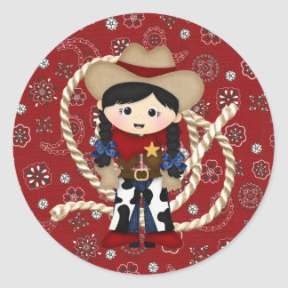 Cowgirl Classic Round Sticker