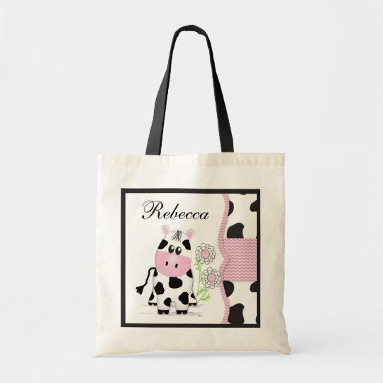 Cowgirl Cow Bag with Chevron Print