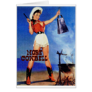cowgirl cowbell note card