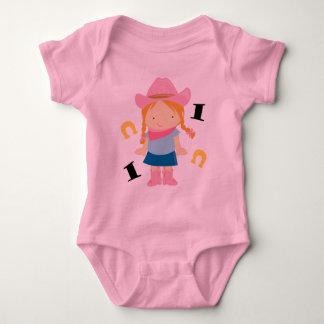 Cowgirl Cute 1st Birthday 1 Yr Old T-shirt