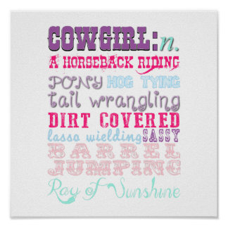 Cowgirl Definition Poster