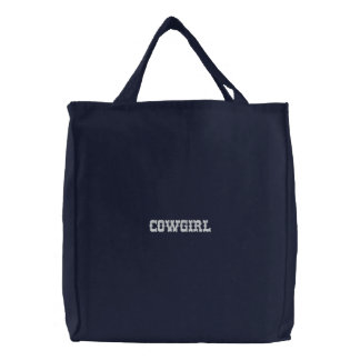 Cowgirl Embroidered Bag