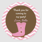 Cowgirl Favour Stickers