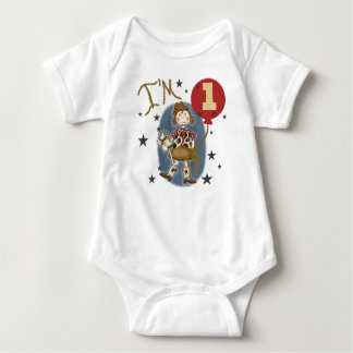 Cowgirl First Birthday Baby Bodysuit