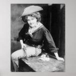 Cowgirl Gambler: 1909 Print