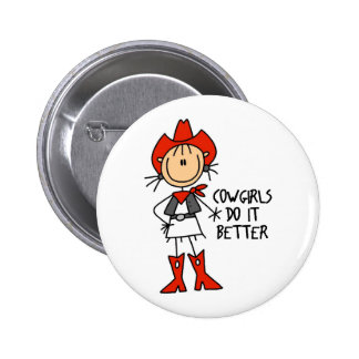 Cowgirl Gift 6 Cm Round Badge