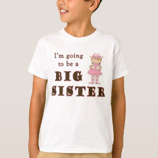 Cowgirl Going To Be Big Sister T-Shirt