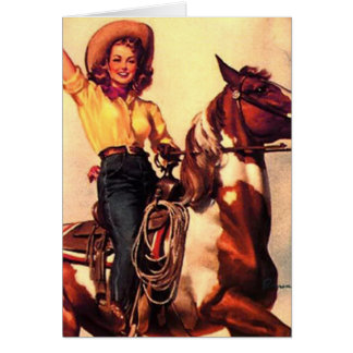 Cowgirl Greeting Card
