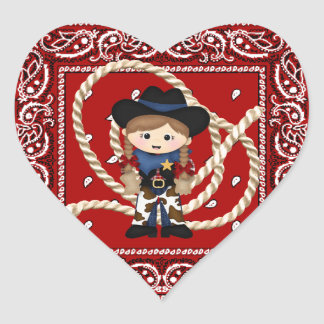 Cowgirl Heart Sticker