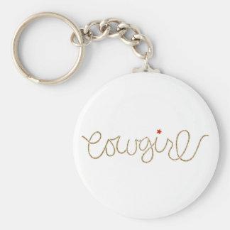 cowgirl key ring